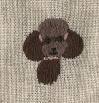 トイプードルの刺繍をしました。 - vogelhaus note