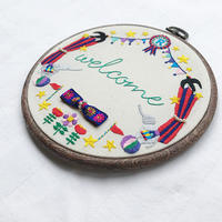 welcome刺繍のキットのお知らせと頂いた質問と - hironoc 部活動日記