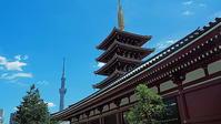 浅草寺五重塔と東京スカイツリー - 風の香に誘われて 風景のふぉと缶