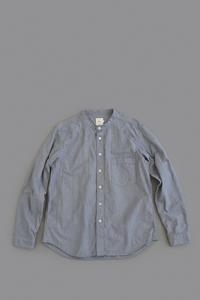 RINEN 80/2 Down Proof Stand Collar Shirt (Hakeme) - un.regard.moderne