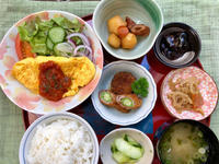 オムレツ★(^^♪・・・・・700円ランチ - 日だまりカフェ