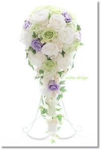 ウェディングブーケ* セミキャスケード - Flower letters