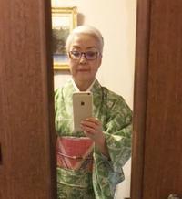 加賀友禅の浴衣 - お花に囲まれて