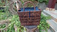 籠に被せ - 古布や麻の葉