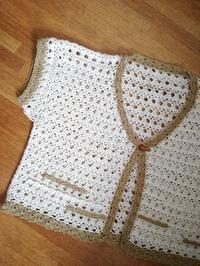 カギ針編みのボレロが完成です - ニットの着樂