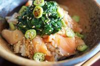 ■簡単5分!!【冷凍炙りトロサーモンで簡単な丼】 - 「料理と趣味の部屋」