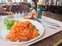 ナポリタンとレアチーズケーキ:赤い林檎(青森市) - 津軽ジェンヌのcafe日記