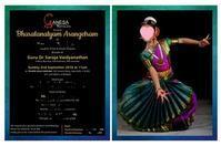 アランゲトラム(インド古典舞踊ソロデビュー公演)へ - Blue Lotus
