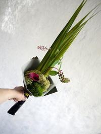 傘寿のお祝い花束。「お茶をされている方へ」。2018/08/31。 - 札幌 花屋 meLL flowers