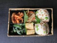 9/4枝豆ソイそぼろおにぎり弁当 - ひとりぼっちランチ