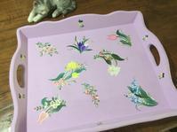 オーダーのトレー - coco diary 山口県 お花と絵と楽しいティータイム