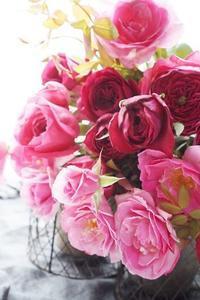 和ばらとパンクと台風と - お花に囲まれて
