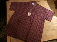 N.O.S. ~60's PENNEY'S plaid S/S shirt - BUTTON UP clothing