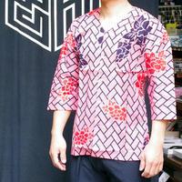 9091回 鯉口・桧垣に牡丹(凧人オリジナル)ピンク - 今日の凧人
