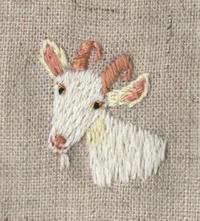 ヤギの刺繍をしました。 - vogelhaus note