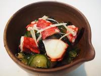 すだちで蛸とわかめの酢の物 - sobu 2