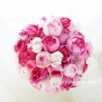 アフターブーケのご感想 ピンクのバラのブーケ、ザグランドオリエンタルみなとみらいの花嫁様より - 一会 ウエディングの花