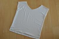ホワイトニットシャツ製作。珍しく着画アリです(笑) - COCO-NE じかん