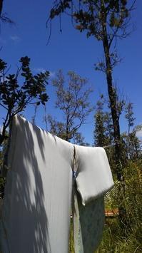 ハワイ島で布団干し - Nature Care