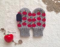 キッズ用りんごミトン - ミトン☆愛犬 編みぐるみ Maronyのアトリエ