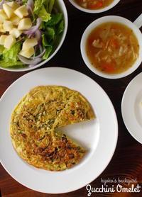 ズッキーニ・オムレツと野菜スープ - Kyoko's Backyard ~アメリカで田舎暮らし~