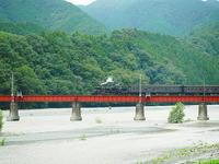 大井川を渡る - 風の香に誘われて 風景のふぉと缶