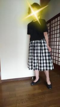 9月7日、70代。ギンガムチェックのスカートと手作りのチョーカーでコーディネートをする - 楽しく元気に暮らします