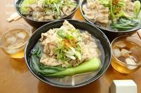 豚しゃぶと青梗菜のうどんランチ&お外御飯は、リッチなとんかつ(o^^o) - おばちゃんとこのフーフー(夫婦)ごはん