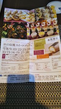 川崎日航ホテル夜間飛行秋のスイーツブッフェ - C&B ~ケーキバイキング&ベーグルな日々~