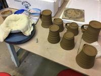 ロクロ収納テーブル - 週末陶芸家 フジサキウサジ