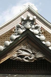 足立区内 銭湯 懸魚 なんと鶴が多いことか - 設計事務所 arkilab
