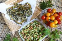■菜園料理【ゴーヤのチーズチップ/オクラ納豆】 - 「料理と趣味の部屋」