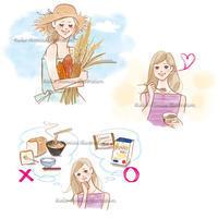ドラッグストア情報誌でカットイラスト - 女性誌を中心に活動するイラストレーター ★★清水利江子の仕事ブログ
