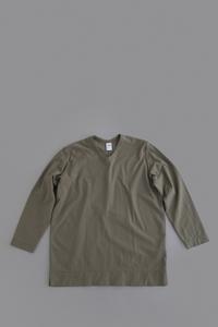 NO CONTROL AIR Hight Twisted Cotton U-Neck L/S (Olive) - un.regard.moderne