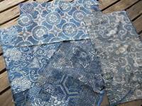 まだ4枚目刺しています。・・昨日、松本の中町蔵シック館で襤褸型染め - 藍ちくちく日記
