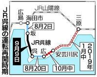 呉線、山陽本線の広島シティ電車区間が復旧 - 飛行機とパグが好きなお母さんの日記