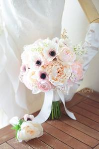 9月、秋に芍薬とアネモネのブーケを持ちたい場合アーティフィシャルフラワーで - 一会 ウエディングの花