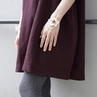 Br 手編みのお花とアゲート (4420) - natural essence : EKO PROJECT