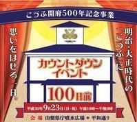 9月23日・甲府開府500年記念イベント・ディズニーワールドとの夢のイベントが行われます。 - Hotel Naito ブログ 「いいじゃん♪ 山梨」