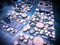 窯出し風景 - のぼり窯 窯元の日々
