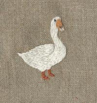 ガチョウの刺繍をしました。 - vogelhaus note