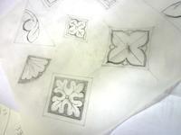 絵付けの準備 - atelier GLADYS  ステンドグラス工房 作り手の日々
