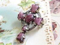 *EB-022 Miracle ケルト十字の縞瑪瑙ブローチ兼ペンダントトップ   - Serendipity Antiques