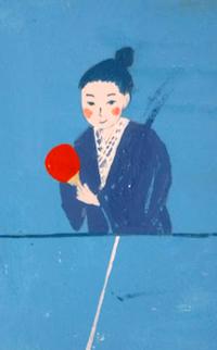 浴衣で卓球 - たなかきょおこ-旅する絵描きの絵日記/Kyoko Tanaka Illustrated Diary
