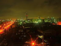 川崎工場夜景コンビナートの光 - 風の香に誘われて 風景のふぉと缶