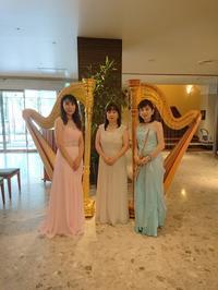 鹿児島東急レイホテルロビーコンサート終了しました - 大竹智巳 ハープブログ
