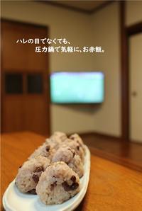 『縁起直し』のお赤飯 ~新生日本代表の門出を応援~ - 身の丈暮らし  ~ 築60年の中古住宅とともに ~