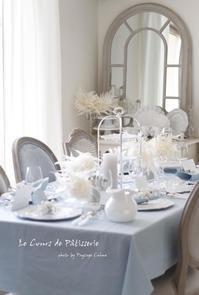 8月のテーブルコーディネート - フランス菓子教室 Paysage Calme