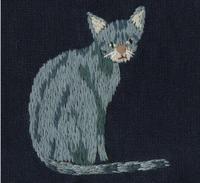 ネコの刺繍をしました。 - vogelhaus note