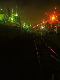 工場夜景鉄路 - 風の香に誘われて 風景のふぉと缶